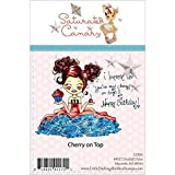 Little Darlings Saturated Canary Unmounted Rubber Stamp, 3.5-Inch by 4.25-Inch, Cherry on Top