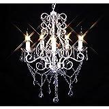 Kristall Kronleuchter Lüster Deckenleuchte Hängeleuchte Lampe Glas 5-flammig NEU
