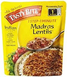 Tasty Bite Indian Entrée, Madras Lentils, 10 Ounce (Pack of 6)