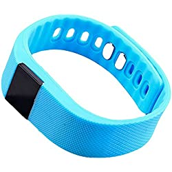 Pulsera Inteligente Deporte , SAVFY ® Smartwatch Bluetooth Pulsera Deportiva y Salud para Android y Apple iPhone, Bluetooth 4.0, Resistente al Agua (Azul)