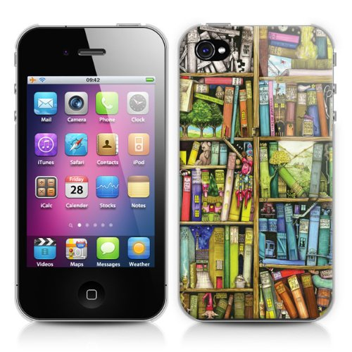 Schutzhülle für Apple iPhone 4/4S - Bücherregal