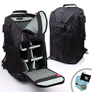 Accessory Genie Professional DSLR Camera and Laptop Backpack