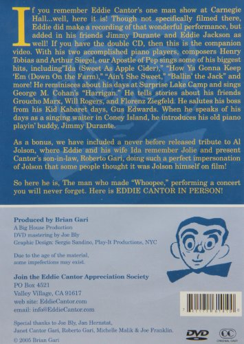 Eddie Cantor: In Person! injustice in person