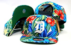 Detroit Tigers American Needle Kona Snapback Limited Edition Hawaiian Blue Print Cap by American Needle