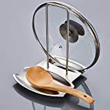 GQ Stainless steel pot rack with water tray kitchen spoon storage rack...