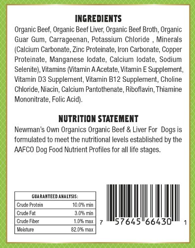 Newman's Own Organics Beef and Liver Grain-Free for Dogs, 12-Ounce Cans (Pack of 12)_Image1