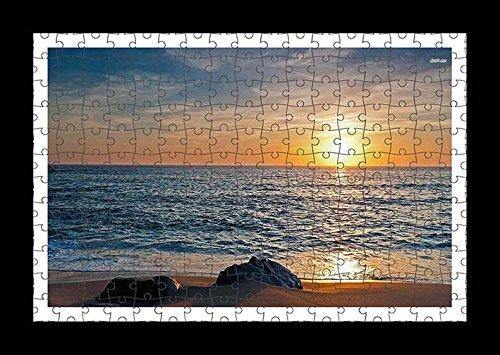 puzzle-style-pre-assembles-imprimer-mur-de-rocks-on-sandy-beach-by-lisa-loft