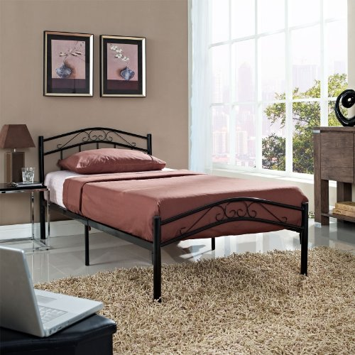 Buy Discount LexMod Townhouse Iron Twin Bed Frame