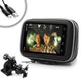USA Gear Water-Resistant Bicycle Handlebar Mount for HTC / Samsung / Motorola and Other Smartphones **Includes Micro USB Cable**