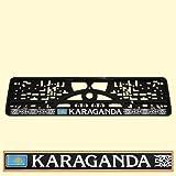 KFZ Nummernschildhalter Karaganda Kasachtan Kennzeichenhalter Kennzeichenhalterung Kennzeichenverstärker