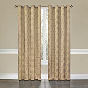 Buy Eclipse Tatum Grommet Blackout Curtain Panel 84 Inch Latte By Eclipse Curtains Online At