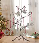 Pewter Decorative Ornament Display Tree, 12W x 17H