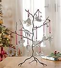 Pewter Decorative Ornament Display Tree, 12W x 17H