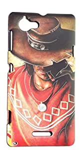 "Techno TrendZ ( TM ) New Latest Luxury Premium Imported Designer Printed Radium Dark "" Night Glow "" 3D Touch Feel Hard Back Case Cover Guard for Sony Xperia L C2105 C2104"