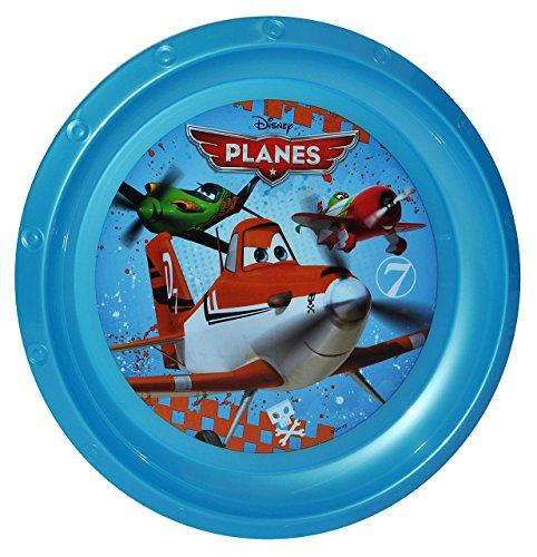 """großer Teller - Kinderteller """" Disney Flugzeuge Planes - Dusty """" - ø 22 cm - aus Kunststoff / Plastikteller Plastik - Geschirr für Kinder - Flugzeug Jungen - Speiseteller"""