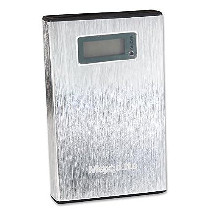 Maxxlite-10000mAh-Dual-USB-with-LCD-Display-Power-Bank-Silver