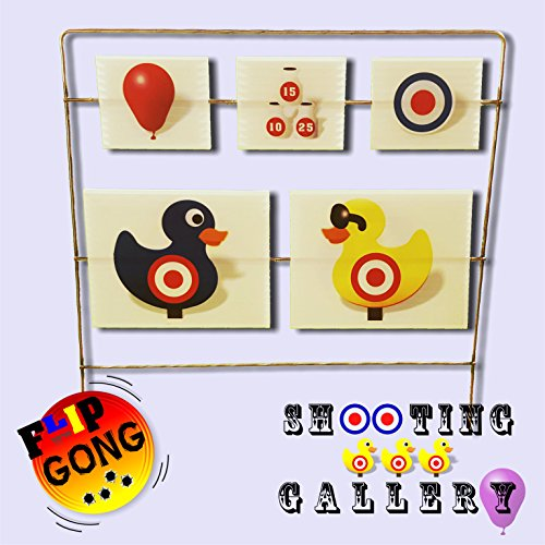 SHOOTING GALLERY Target - Airsoft, BBs, Foam Darts - FlipGong (Spinner Target For Bb Gun compare prices)