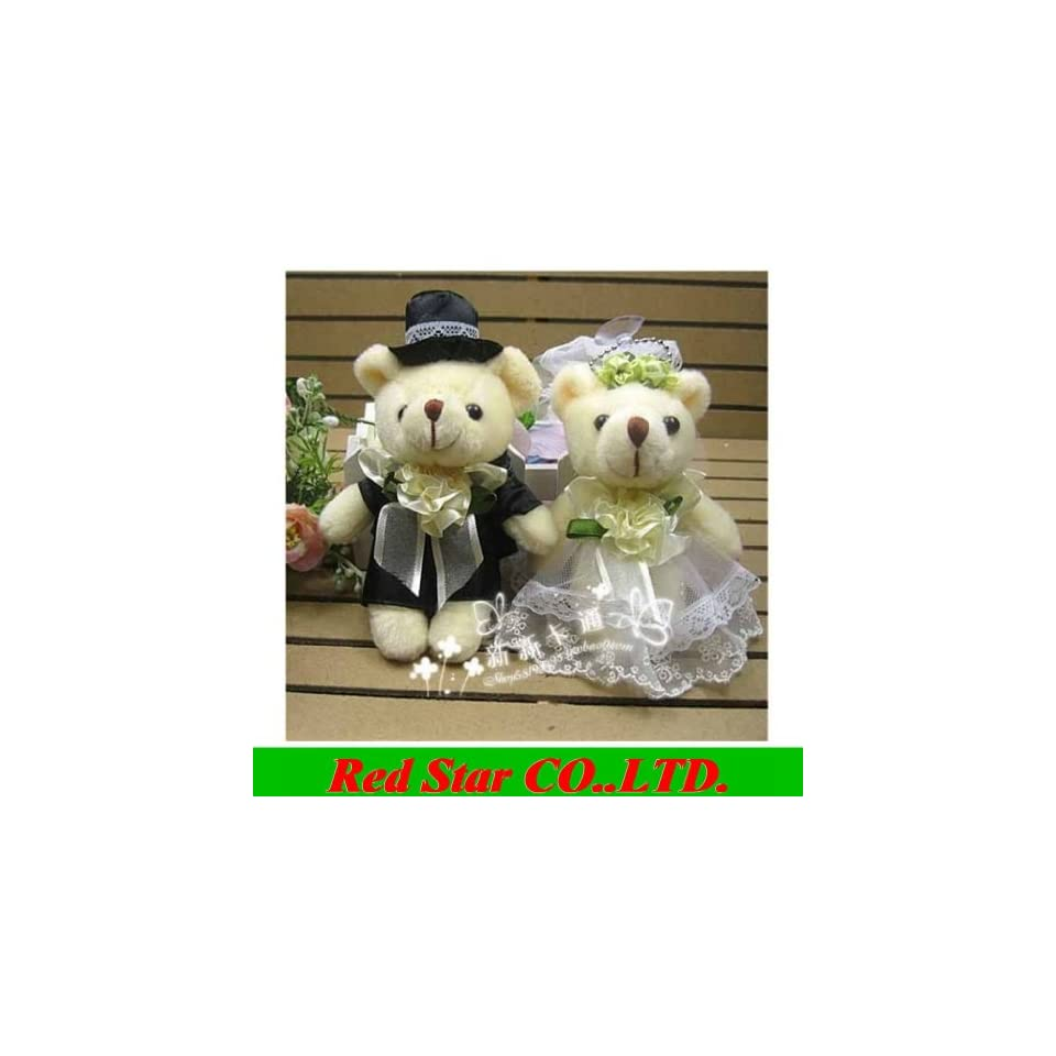 wedding teddy bears stuffed animals plush toys plush 5pair/lot tinny bear . could use for gift