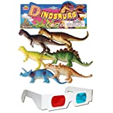 Dinosaurs Animals Plastic Toys For Kids ( 6 Pcs. Pack )