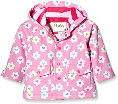 Hatley Baby Flower Heart Garden Infant Raincoat, Flower Heart Garden, 6-12 Months