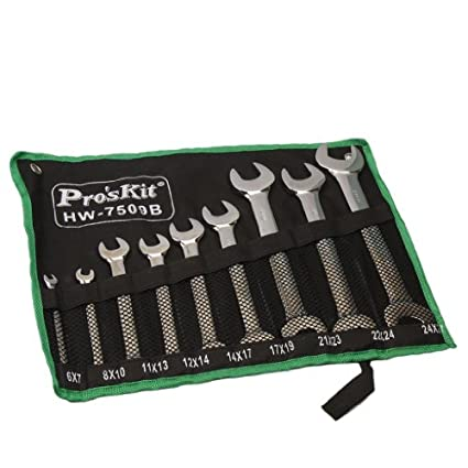 HW-7509B 9Pcs Double Open End Wrenches Set