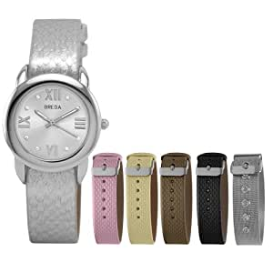 Breda Women's 8147.set Emily Interchangeable 5 Band Watch Set
