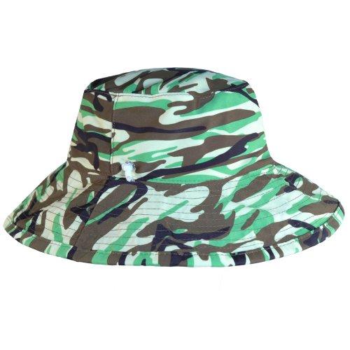 Boys Reversible UV Sun Protective Camo Bucket Hats (UPF 50+)