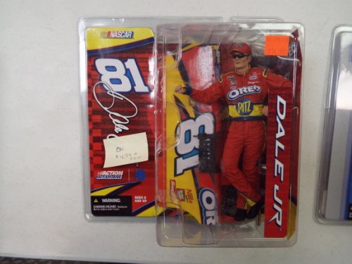 Dale Earnhardt Jr #81 Red Oreo Ritz With Drivers Side Car Replica McFarlane NASCAR Series 6 Action Figure With Sunglasses