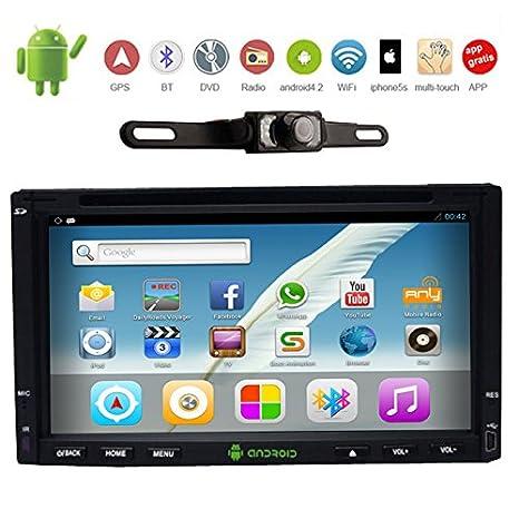 2 Din Android lecteur DVD de voiture avec 4.2 WIFI / 3G universel En voiture Deck Radio Video Audio 2 DIN GPS Navigator stšŠršŠo CPU Dual-Core + CamšŠra