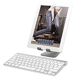 elago® P2 Stand [Dark Gray] - [Premium Aluminum][Ergonomic Angle][Cable Management] - for iPad and Tablet PC