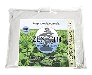 "Zen Chi Buckwheat Pillow - Zen Chi 100% Organic Premium Buckwheat Pillow - King Size (20"" X 36"") at Sears.com"