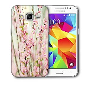 Snoogg White Flowers Printed Protective Phone Back Case Cover For Samsung Galaxy Core Plus G3500