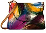 Snoogg Feather strokes Womens Carry Around Sling Bags