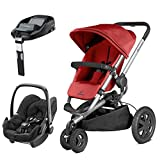 Quinny Buzz Xtra Red Rumour with Pebble Modern Black and FamilyFix Base