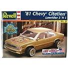 81 Chevy Citation LowRider 1981 シボレー シタシオン ローライダー Revell 85-2378 1:24スケール Chevrolet プラモデル [並行輸入品]