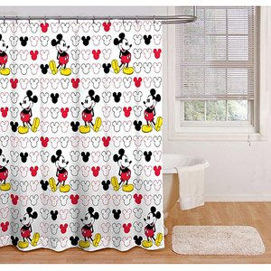 Decorative Shower Curtain Rings Crinkle Fabric Shower Curtains