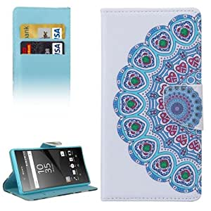 Crazy4Gadget Drawing Flowers Pattern Horizontal Flip Leather Case with Holder & Card Slots & Wallet for Sony Xperia Z5 Premium