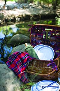 Highlander Bamboo and Rattan Basket from Picnic Time