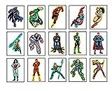 15 DC Superhero Justice League Die-Cut Larger Stickers - Batman, Wonder Woman, Superman, Flash, Aquaman