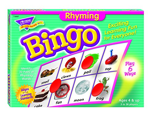 Trend T6067 Young Learner Bingo Game, Rhyming Words (TEPT6067) - 1