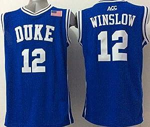 Men's Duke Blue Devils NO.12 WINSLOW Basketball Jersey NCAA Basketball Jersey for Men