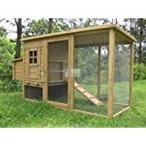 Chicken Coops Imperial Wentworth Large Chicken Coop Hen House Ark Poultry Run Nest Box Rabbit Hutch Suitable For Up To 4 Birds - Integrated Run & Cleaning Tray & Innovative Locking Mechanism