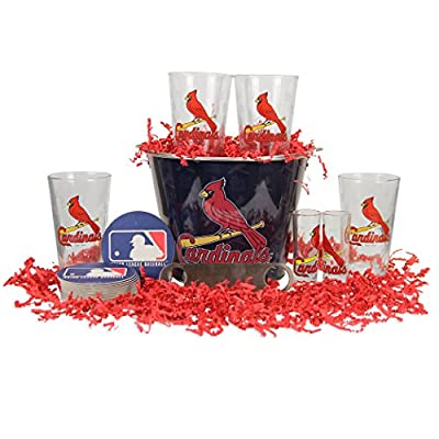 MLB Team Gift Bucket Set (Pint Glasses, Bucket, Shot Glasses)