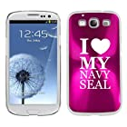 Hot Pink Samsung Galaxy S III S3 Aluminum Plated Hard Back Case Cover K1747 I Love My Navy Seal