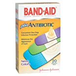 Band-Aid Adhesive Bandages Plus Antibiotic, Assorted, Neon Colors, 26 ct.