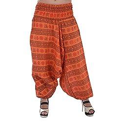 Indi Bargain Om Print Loose fit Harem Trouser, Great Comfort Pants