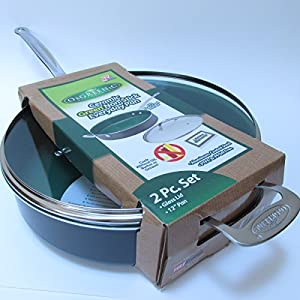 Orgreenic Ceramic Non-stick Pan with Glass Lid 12""