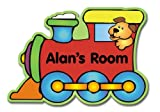 Childrens Personalised Choo Choo Train Door Plaque