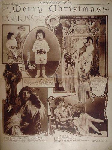 1924 Fashion Peggy Hamilton Christmas David Durand Ads - Orig. Rotogravure Section