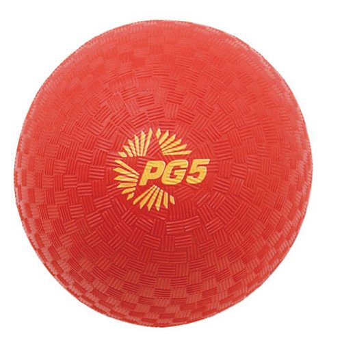 Champion Sports Playground and Kickball Nylon 5-Inch Red Balls(the ball needs inflation)